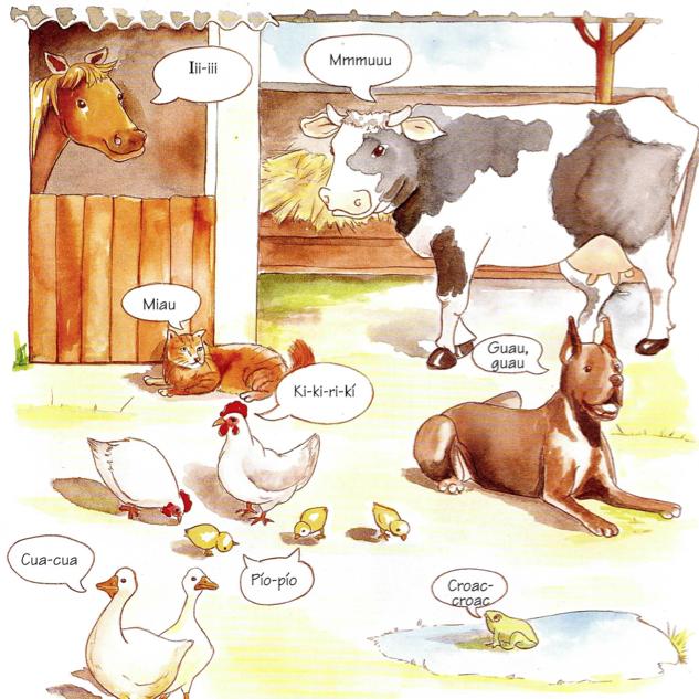 Onomatopeyas de los animales en español