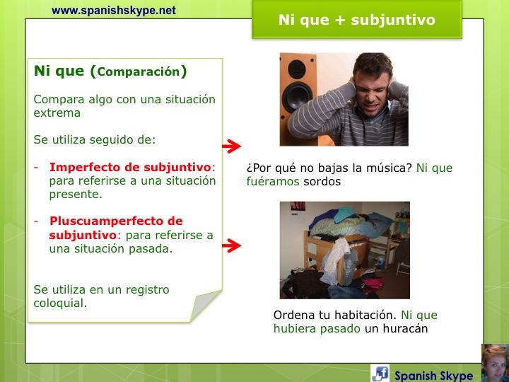 Ni que + subjuntivo (comparar)