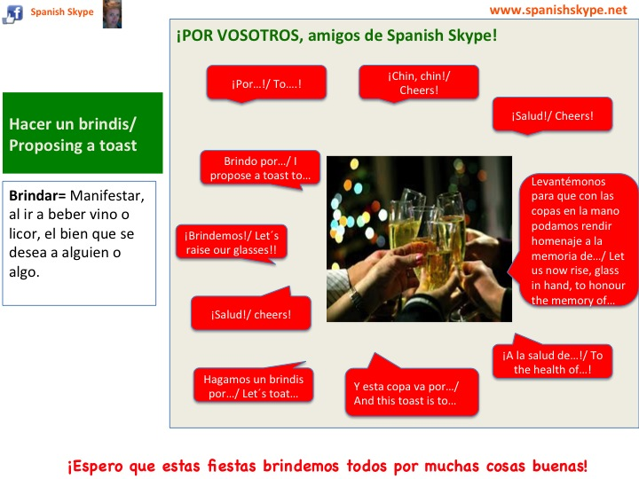 Proposing a toast in Spanish (brindar)