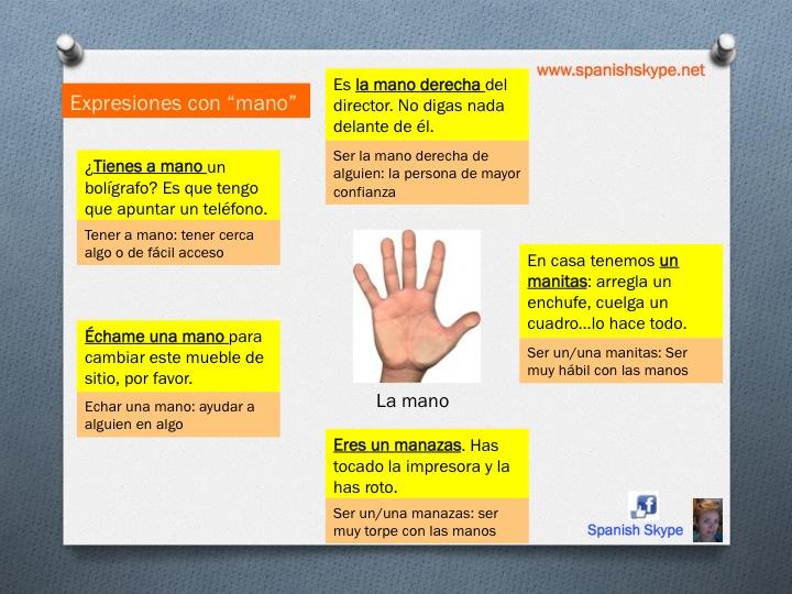 """Expresiones idiomáticas con """"mano"""""""
