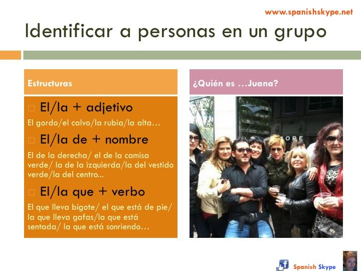 Identificar personas en un grupo