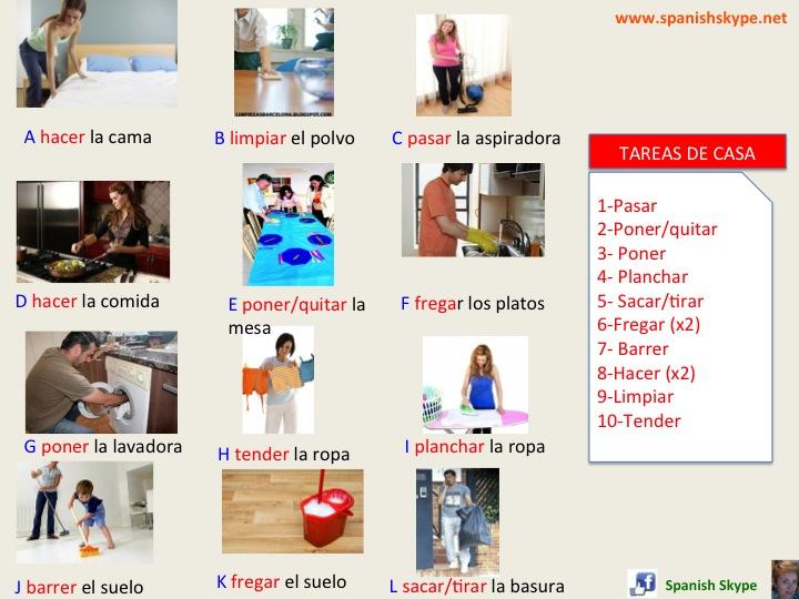 Tareas de casa (housework)