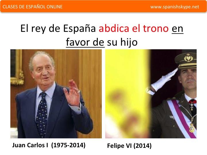 Abdica el rey de España