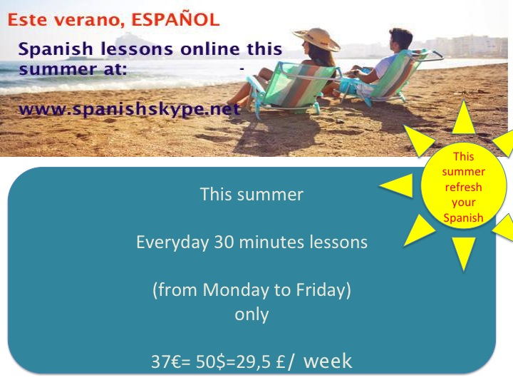 This summer learn spanish online with our special offer