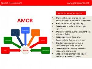 amor, familia de palabras