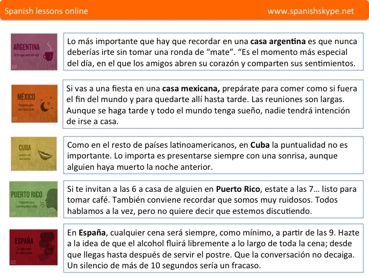 Reglas de cortesia hispanas